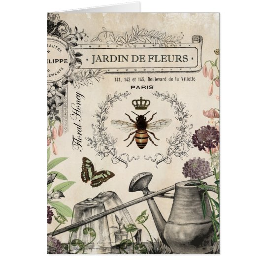 FRENCH BEE GARDEN CARD