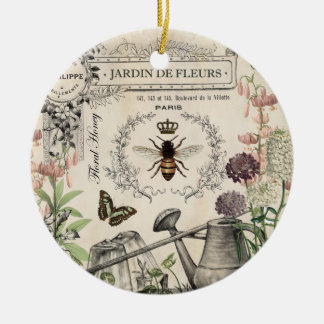 FRENCH BEE GARDEN CHRISTMAS ORNAMENT
