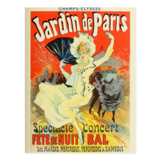 French Belle Epoque vintage poster postcard