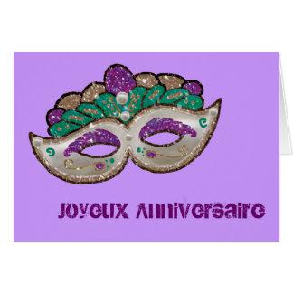 French Birthday Greeting Card
