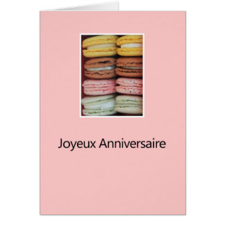 French Birthday Macaron-Joyeux Anniversaire! Card