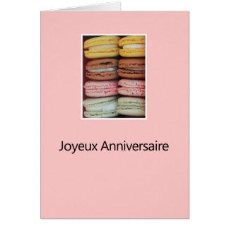French Birthday Macaron-Joyeux Anniversaire! Greeting Card