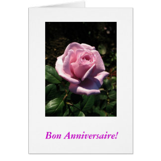 French-Bon Anniversaire Greeting Card
