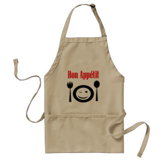 French, bon appetit, eat well restaurant style standard apron