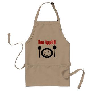 French, bon appetit, eat well restaurant style standard apron