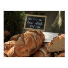 French bread at a market stall postcard