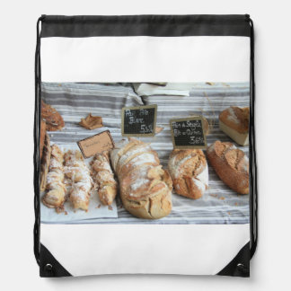 French bread by ProvenceProvence Drawstring Bag