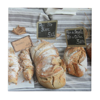 French bread by ProvenceProvence Small Square Tile