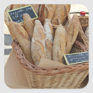 French bread by ProvenceProvence Square Sticker