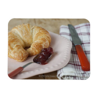 French breakfast with croissant magnet
