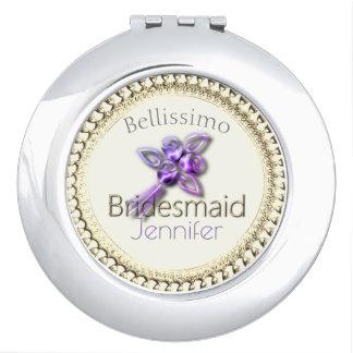 French_Bridesmaid_Monogram_Elegant-Rose-Cream-Gold Vanity Mirror