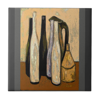French Brown Jugs Abstract Tile