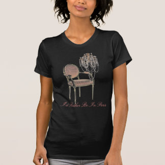 French Budoir  Vintage Pink Floral Chandelier Tee Shirts