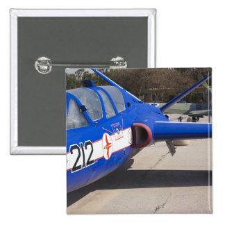 French Built Fouga Magister trainer 15 Cm Square Badge
