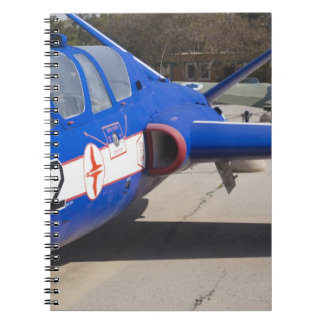 French Built Fouga Magister trainer Spiral Notebook