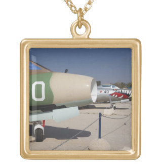 French-built Mystere fighter Gold Plated Necklace
