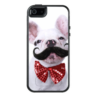 French Bull Dog Puppy With Mustache OtterBox iPhone 5/5s/SE Case