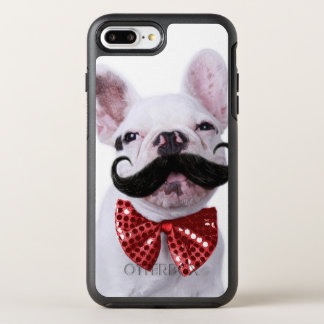 French Bull Dog Puppy With Mustache OtterBox Symmetry iPhone 8 Plus/7 Plus Case