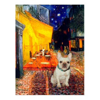 French Bulldog 1 - Terrace Cafe Postcard