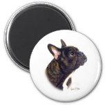 French Bulldog 6 Cm Round Magnet