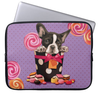 French bulldog and Candy Laptop Sleeve