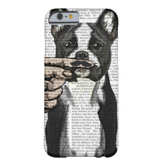 French Bulldog and Finger Moustache Barely There iPhone 6 Case