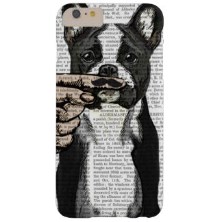 French Bulldog and Finger Moustache Barely There iPhone 6 Plus Case