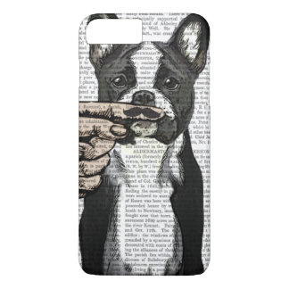 French Bulldog and Finger Moustache iPhone 8 Plus/7 Plus Case