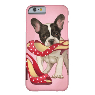 French bulldog and polka dot shoe barely there iPhone 6 case