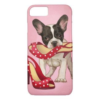 French bulldog and polka dot shoe iPhone 7 case