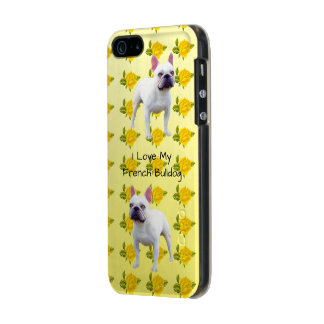 French Bulldog and yellow roses Incipio Feather® Shine iPhone 5 Case