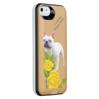 French Bulldog and yellow roses iPhone SE/5/5s Battery Case