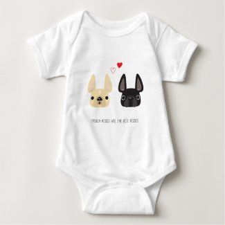 French Bulldog Apparel Baby Bodysuit