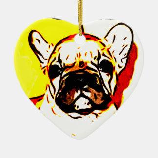 French Bulldog Art Christmas Ornament