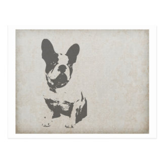 french bulldog art.png postcard