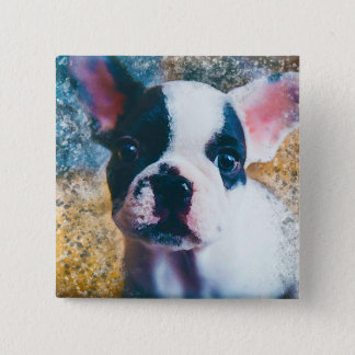 French Bulldog badge with splatter effect