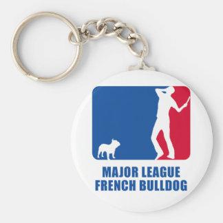 French Bulldog Basic Round Button Key Ring