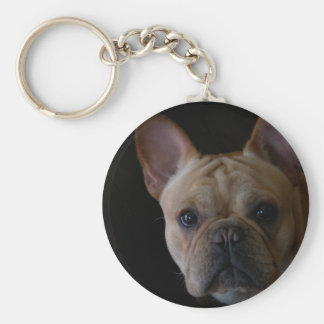 French Bulldog Basic Round Button Key Ring