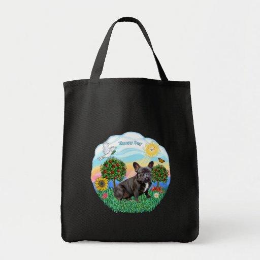 French Bulldog (black) Grocery Tote Bag