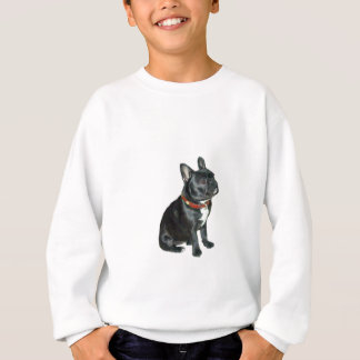 French Bulldog - Black with red collar Sweatshirt