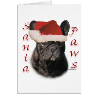 French Bulldog (blk) Santa Paws Card