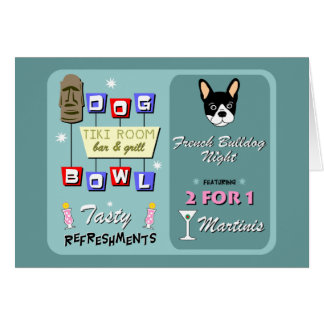 French Bulldog Bowling Night Cards