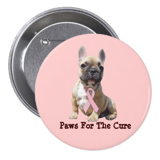 French Bulldog Breast Cancer Button
