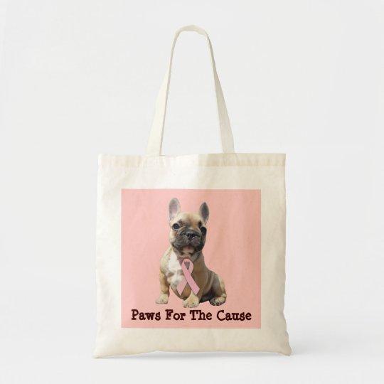 French Bulldog Breast Cancer Tote Bag