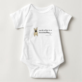 french bulldog brother baby bodysuit