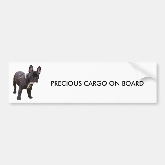 French Bulldog bumper sticker, gift idea Bumper Sticker
