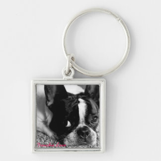 French Bulldog Button Keychain