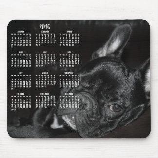 French Bulldog Calendar 2016 Mouse Pad