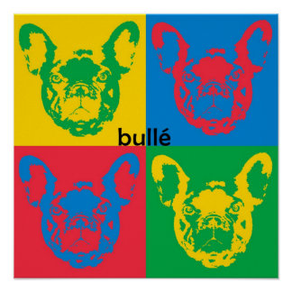 French Bulldog canvas Poster