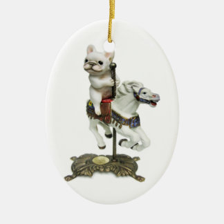 French Bulldog Carousel Christmas Ornament